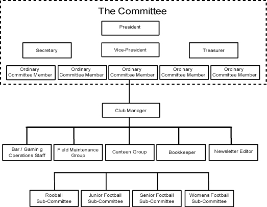 organisation structure of a non-profit sport club